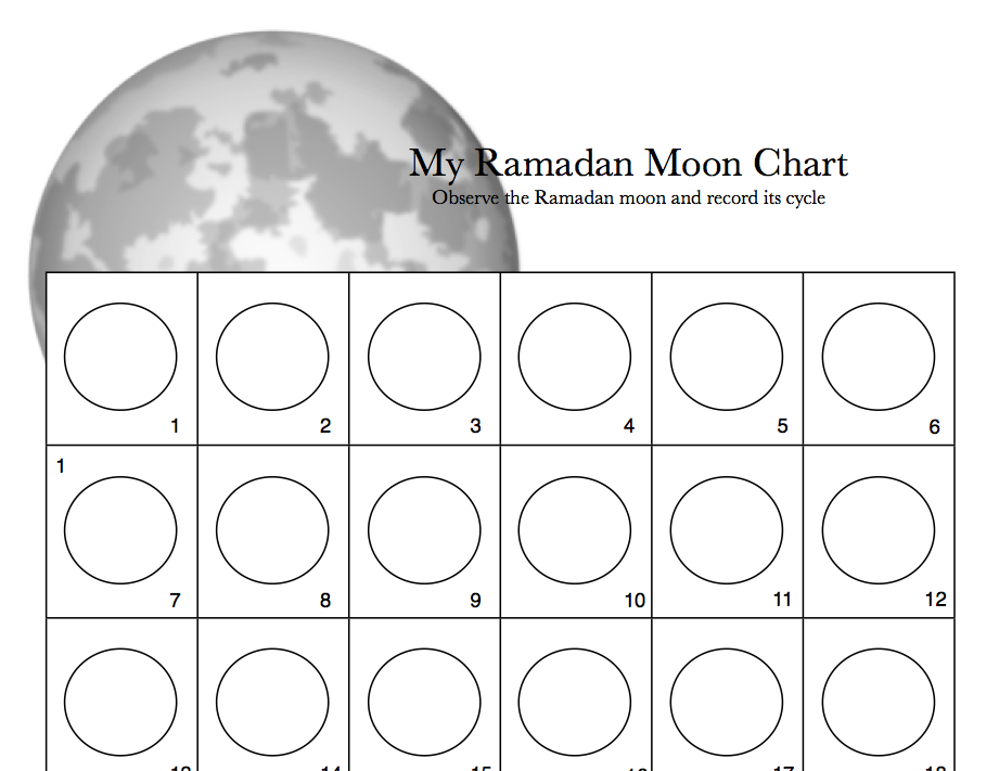 Worksheet for moon observation. | Science | Pinterest | Lesson