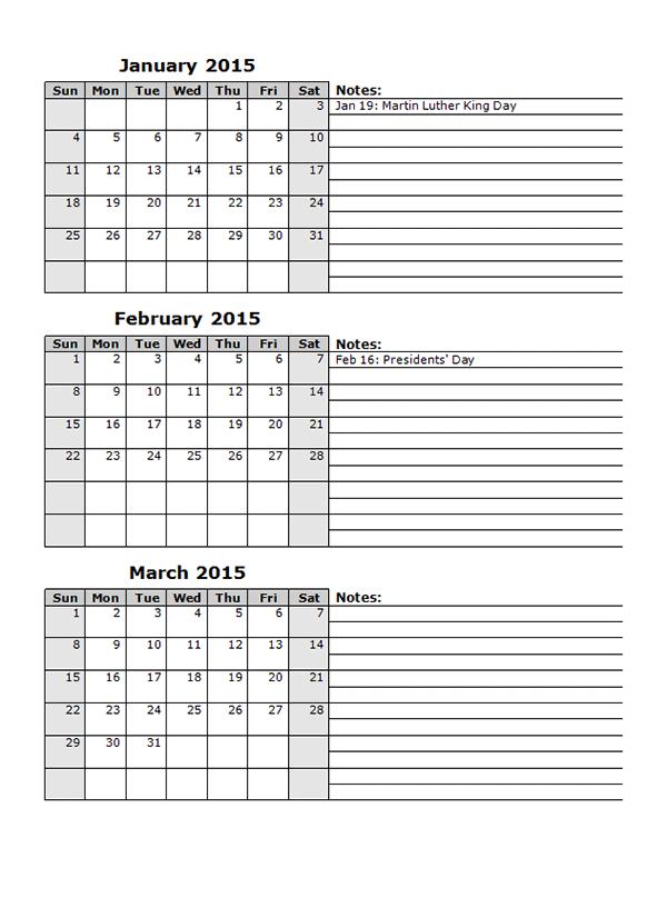 multiple month calendar template - calendar template multimonth calendar template 2018