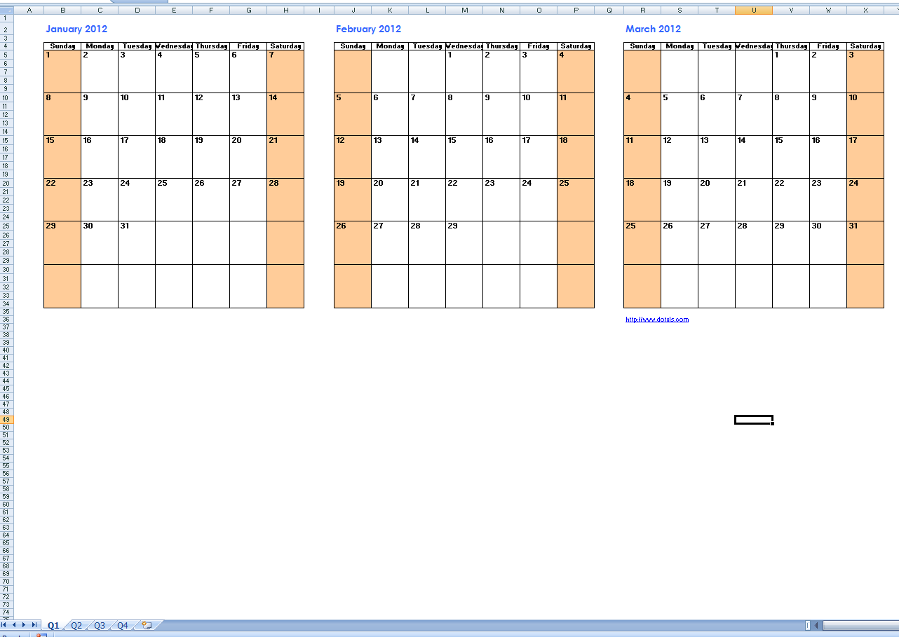 3 Month Calendar Printable | Calendar 2017 Printable