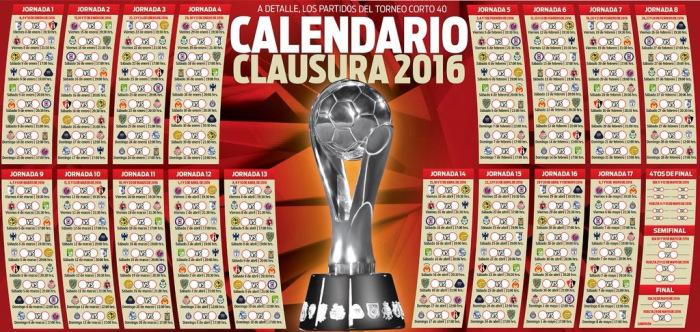 Calendario Clausura 2016 | totalmente fútbol