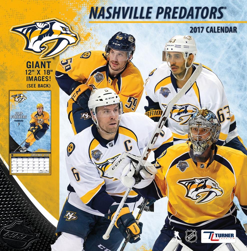 9781469340029 NHL Nashville Predators 2017 Wall Calendar Turner