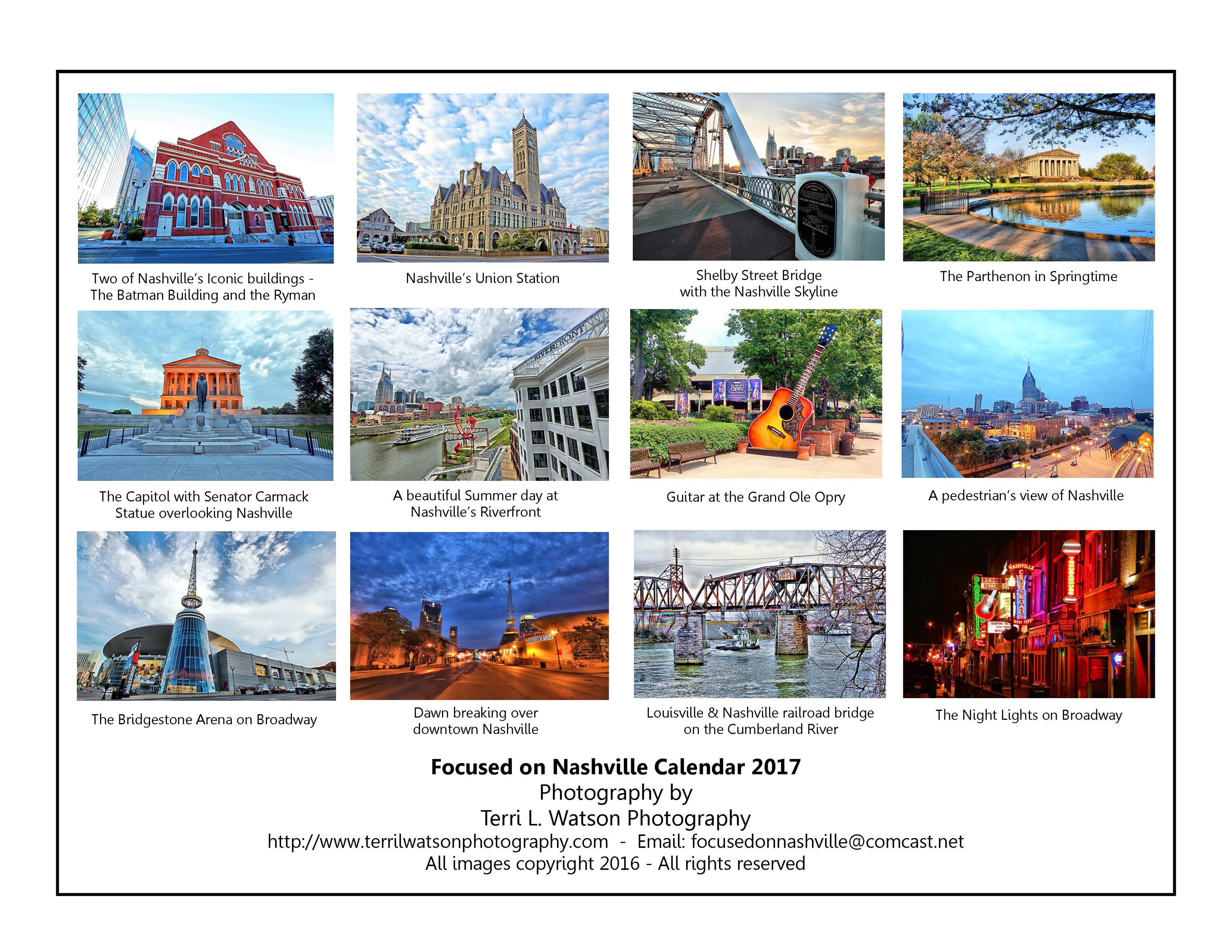 April Calendar Nashville : Calendars with nashville pictures calendar template