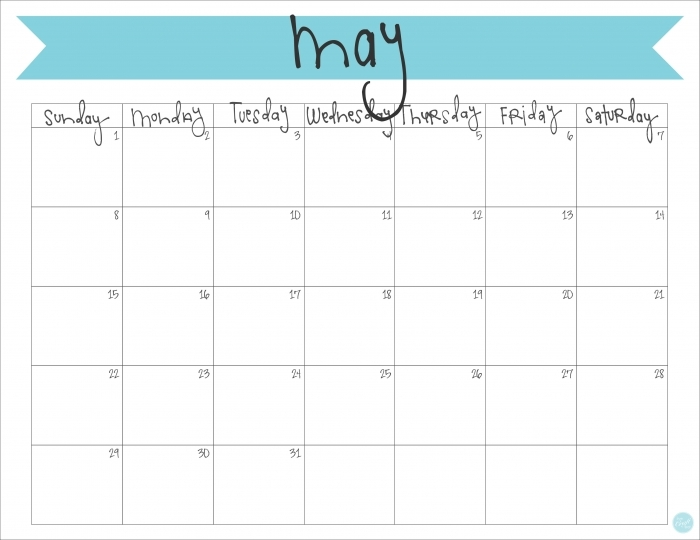 2016 Calendars By Month You Can Write In * Calendar Printable Template