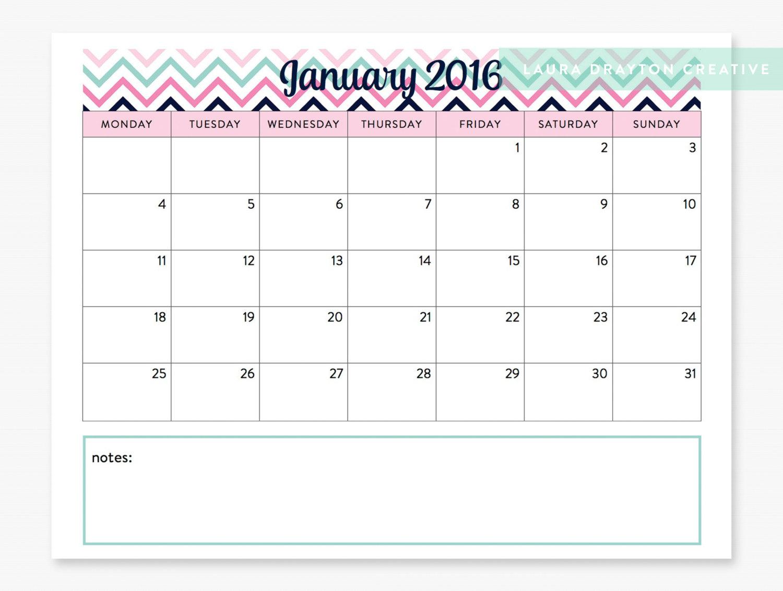 November 2017 Chevron Calendar Printable | 2017 Calendar Printable