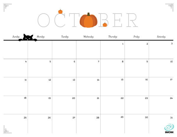 October 2016 Calendar Cute | monthly calendar printable