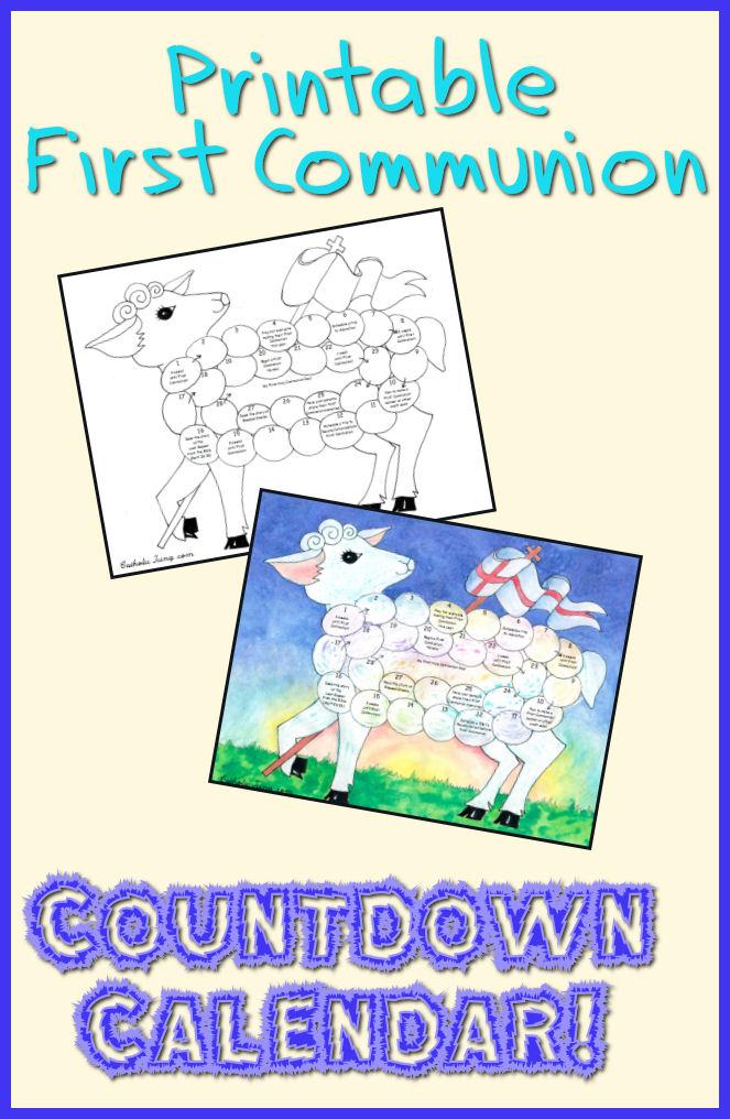 First Communion Countdown Calendar (Printable!) | Catholic Kid