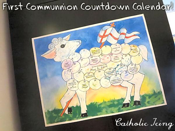 First Communion Countdown Calendar (Printable!)