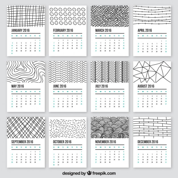 20 Free Printable Calendars for 2016 | Print, Style and Calendar