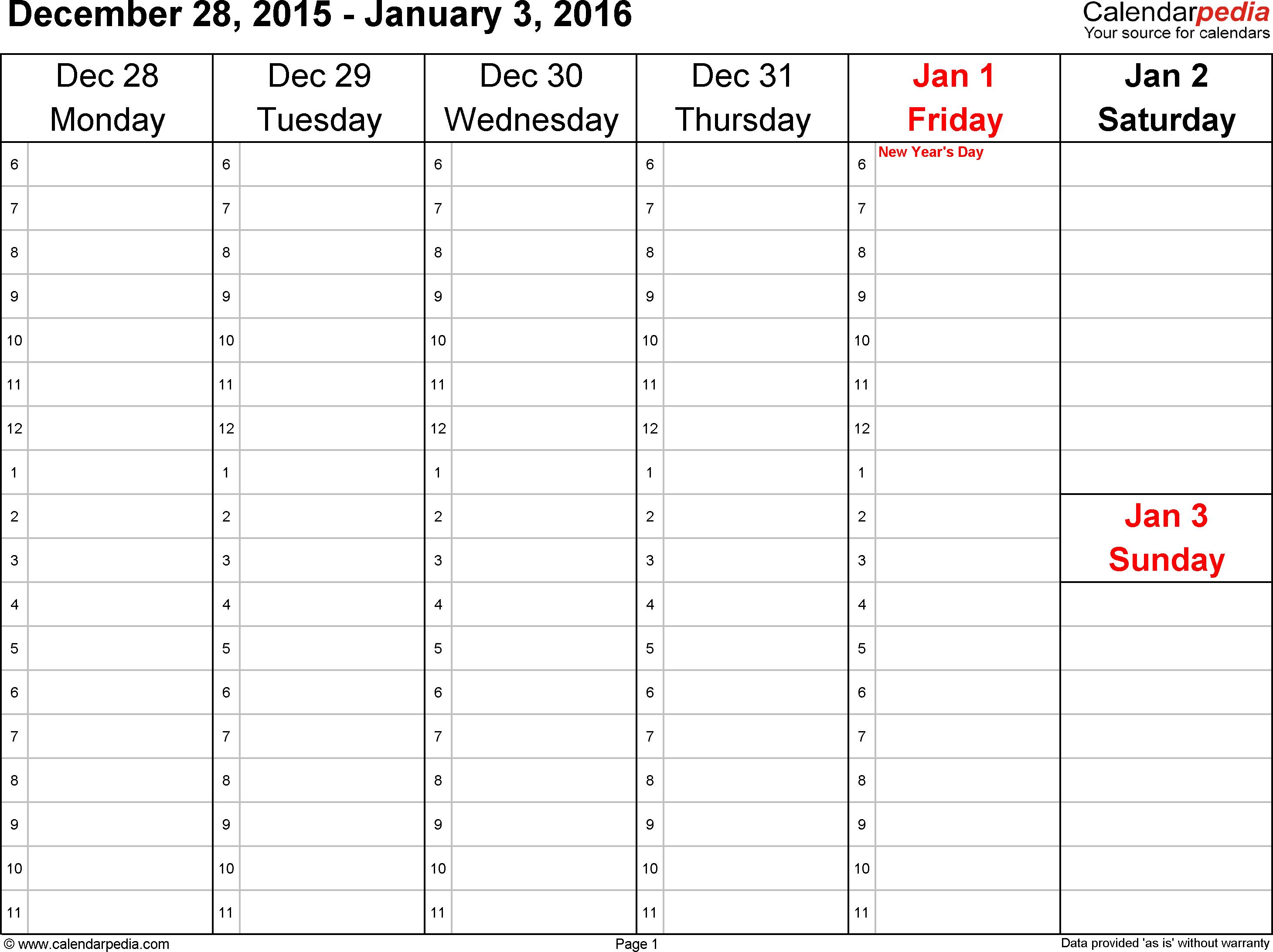 Blank Calendar Template – Free Printable Blank Monthly Calendars