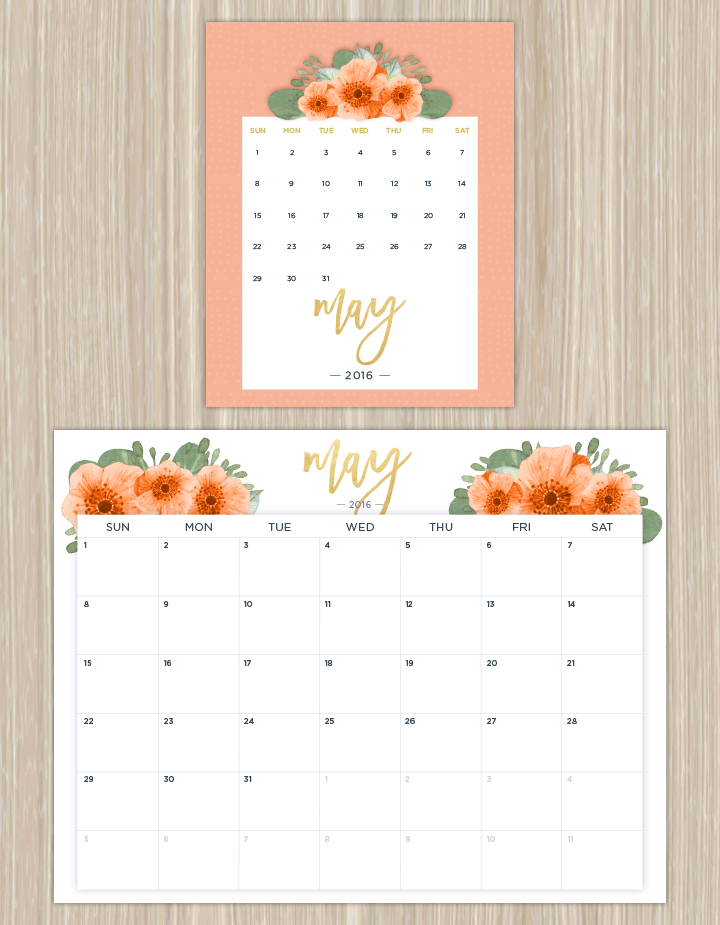 Printable Calendars for a More Floral 2016 | Ftd Flowers Coupon 50