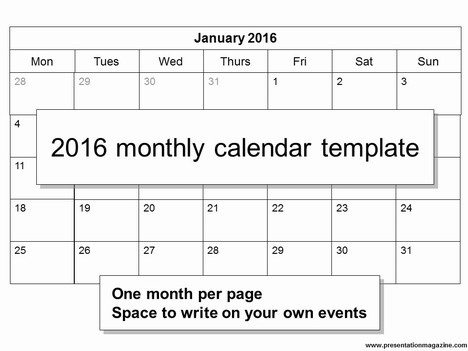 2016 Calendar Free Printable MomsLifeboat