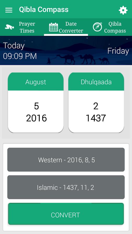 Qibla Compass Prayer Times, Hijri, Kalma, Azan Android Apps on