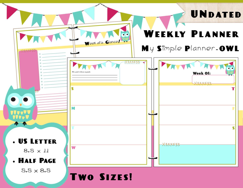 Printable Weekly Planner Calendars For Kids | Calendar 2017 Printable