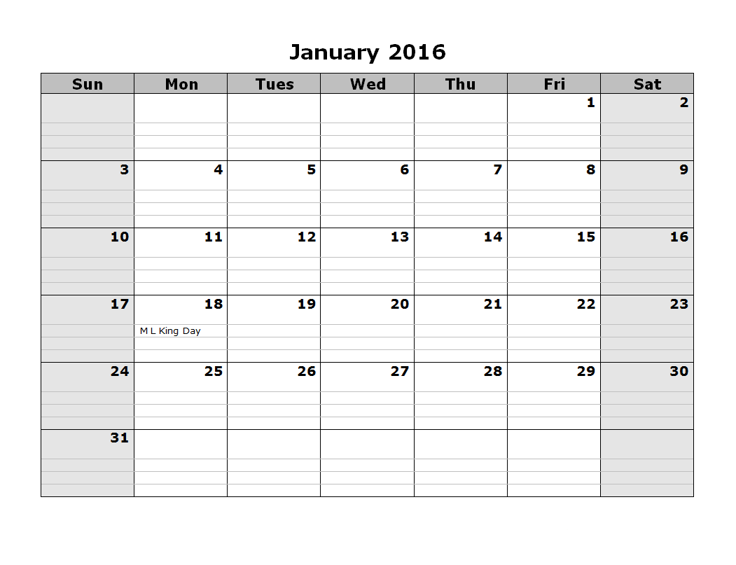 Free Printable 2016 Calendar! Just a Girl and Her Blog