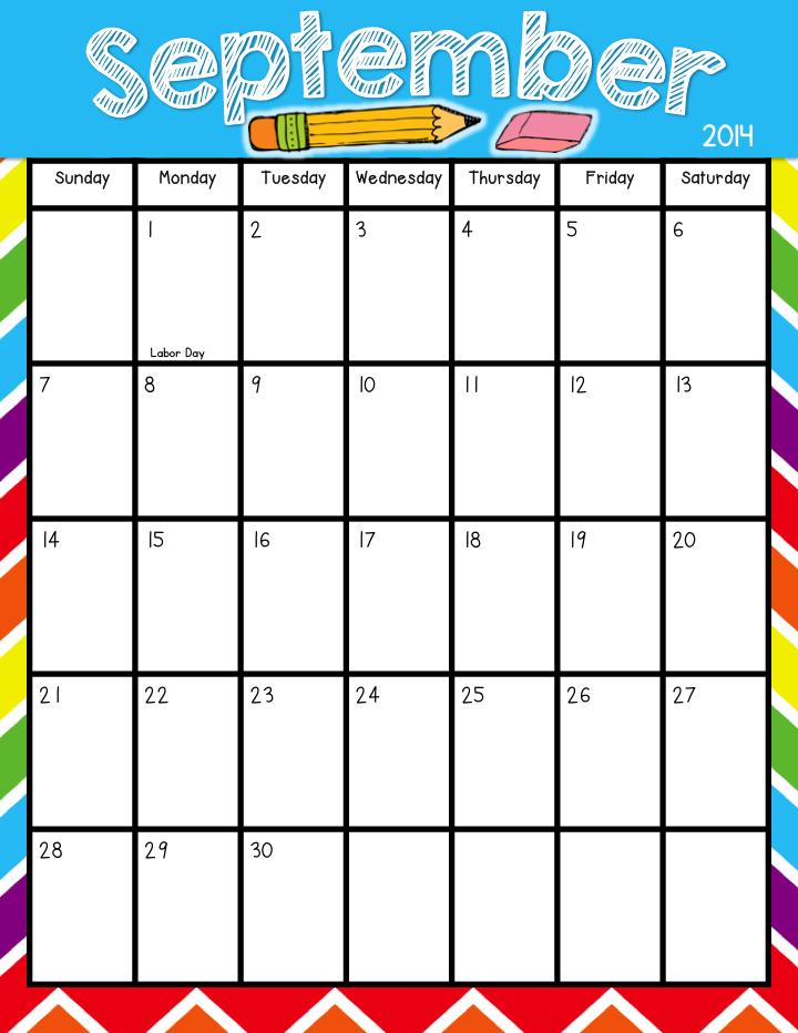 Teacher Laura: Printable Calendar Freebie: Aug 2014 July2015