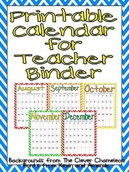 FREE Printable Calendar 201 by Jane Williams | Teachers Pay