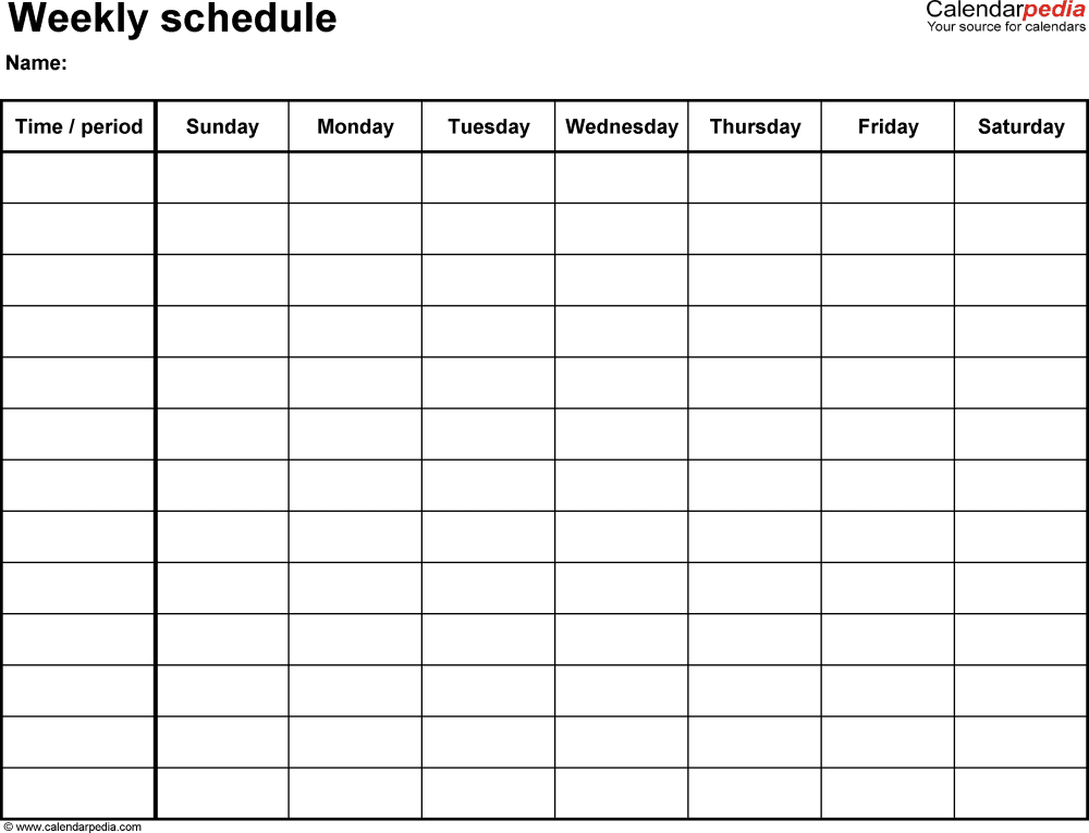 Weekly Calendar Monday To Sunday : Printable monday through sunday calendars calendar