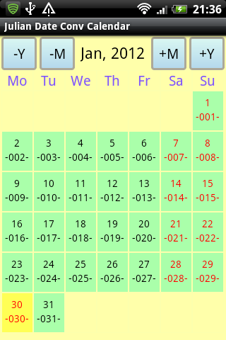 Julian Date Conv Calendar Android Apps on Google Play