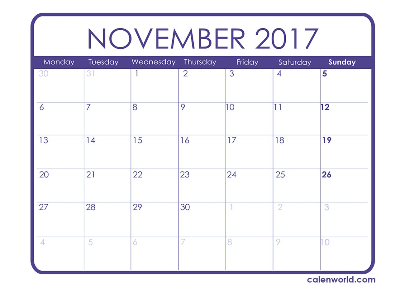 November Calendar | Calendars