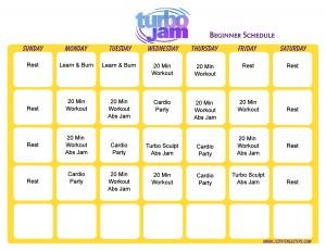 Turbo Jam Workout Calendar   Print A Workout Calendar