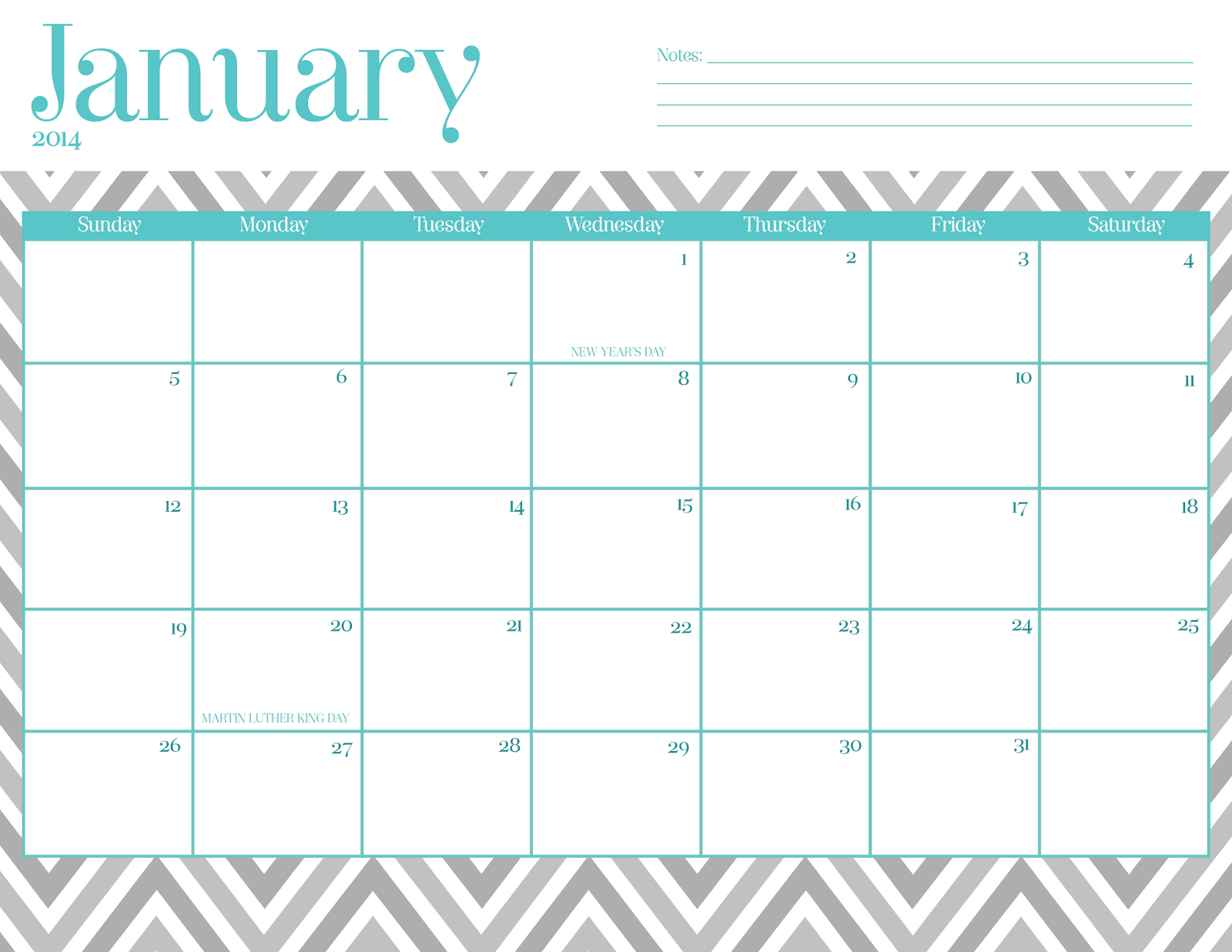 Cute Calendar Printable : Printable cute calendar by month template