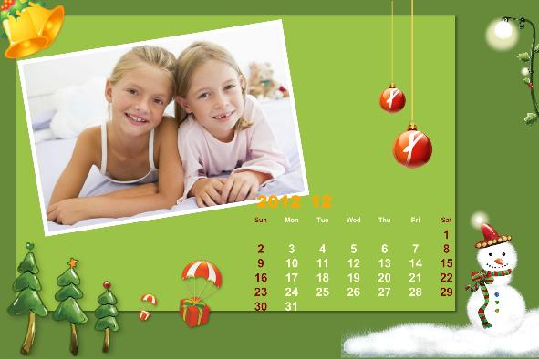 Free photo templates Baby Calendar 2