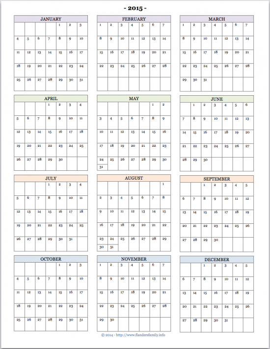 Yearly Calendar At A Glance | 2017 calendar with holidays