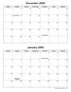 Bi Monthly Calendar Template. sample payroll calendar template 9