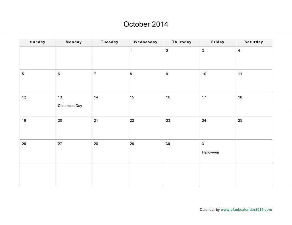 microsoft blank calendar