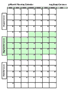 Multiple Month Calendar Template. beyond google calendar and apple