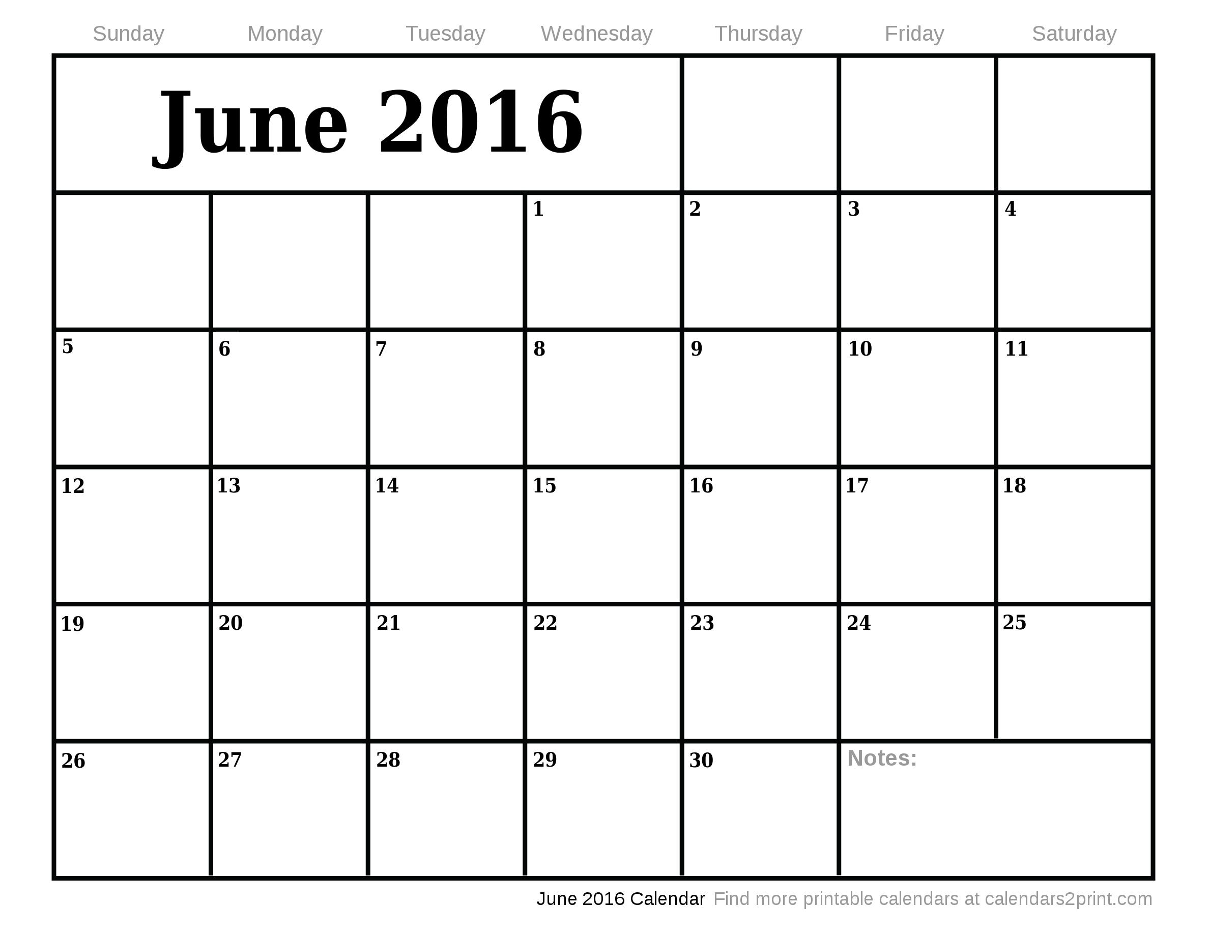 2016 Calendar Fillable