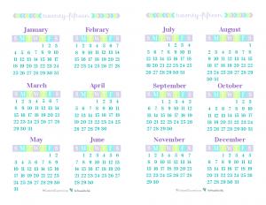 2016 Calendar Printable Cute