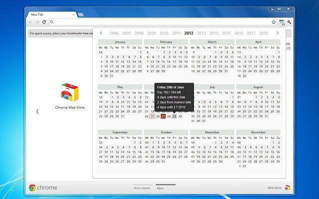 Calendar and Countdown Chrome Web Store