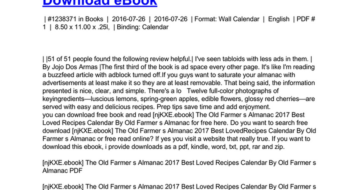 the old farmer s almanac 2017 best loved recipes calendar.doc