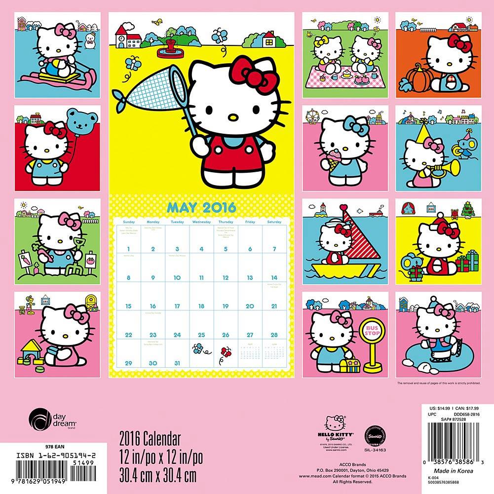 Hello Kitty FEBRUARY 2011 Printable Calendar!