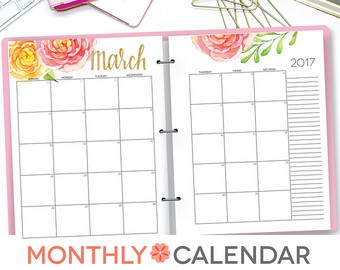 2 16 Half Size Monthly Calendar 2 months to a page Scattered