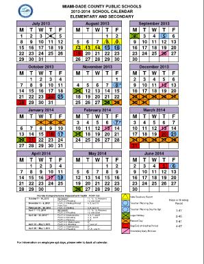 Miami Dade School Calendar 2016 2017