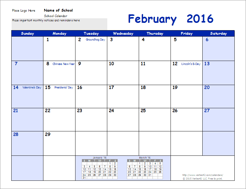 School Calendar Template 2017 2018 School Year Calendar