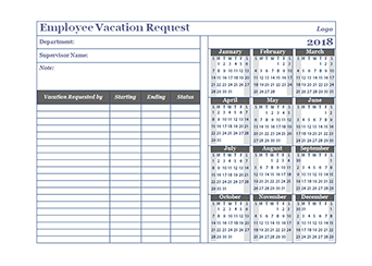 Employee Vacation Request Forms | Amsterdam Printing