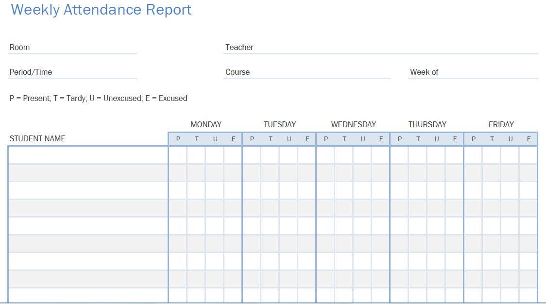 free attendance tracker template - Vatoz.atozdevelopment.co
