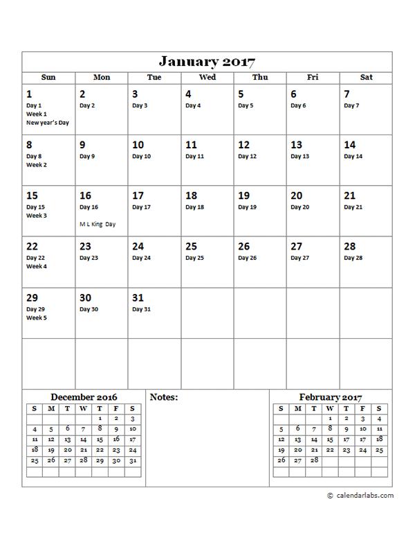 Julian Calendar | monthly calendar template