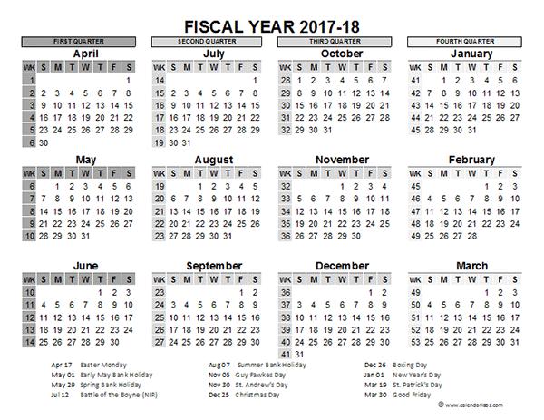 Fiscal 2017 Calendar | Calendar 2017