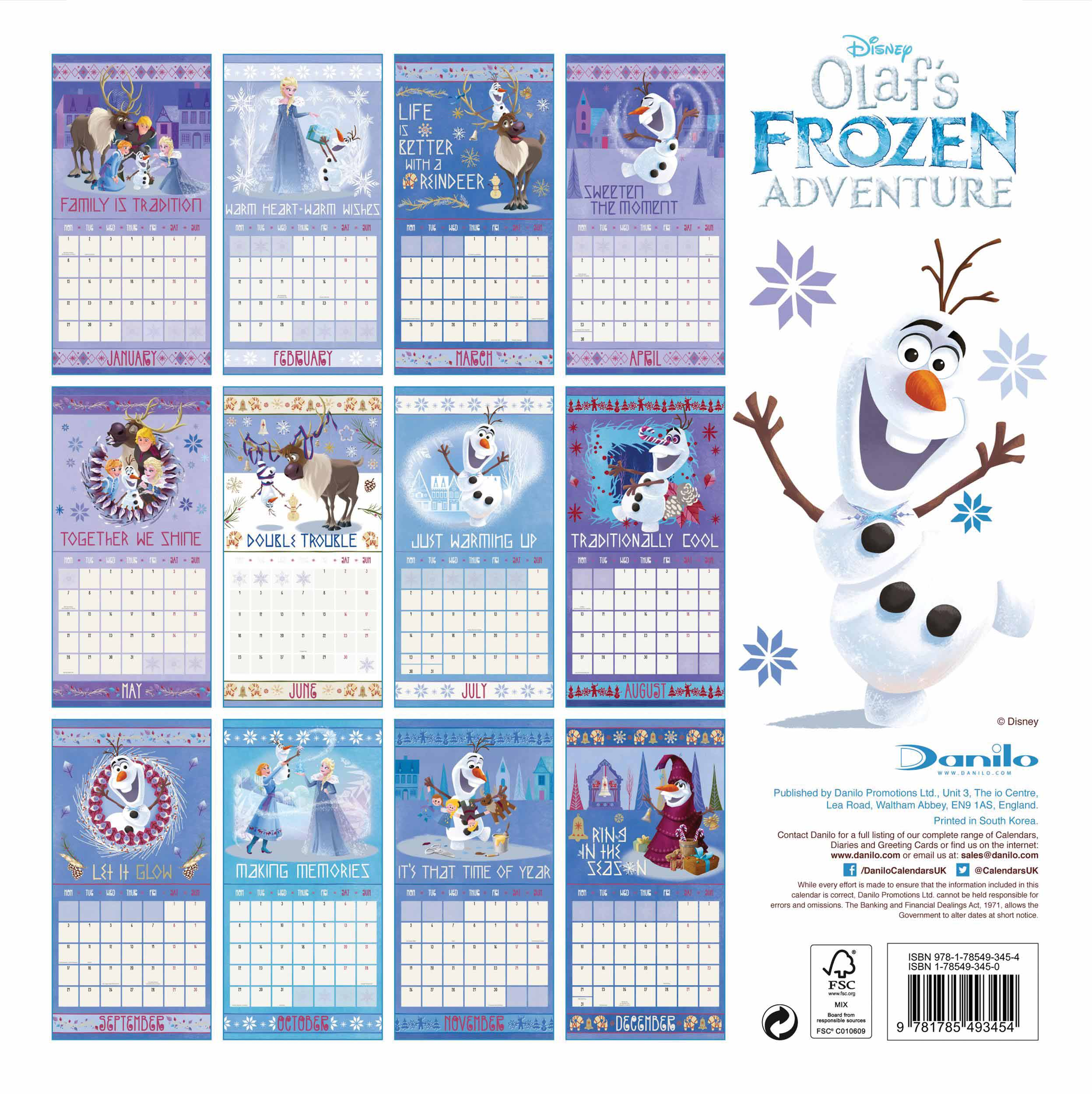 Disney Frozen Calendar 2018 Calendar Club UK