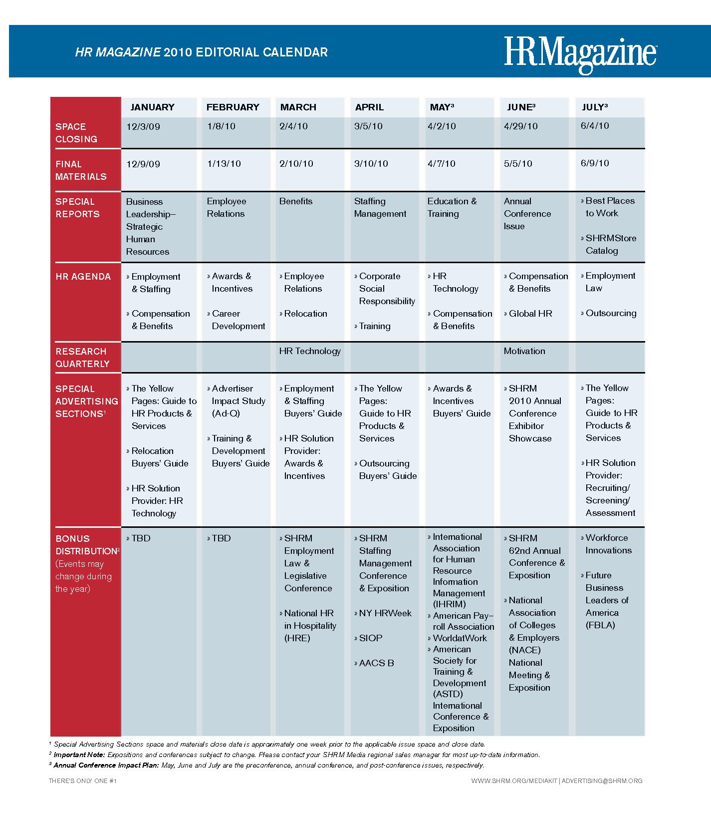 Organization Training Calendar : Human resource calendar template