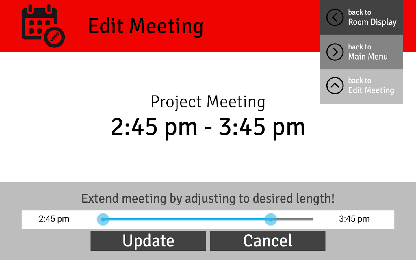 Conference Room Scheduling Calendar Excel Template