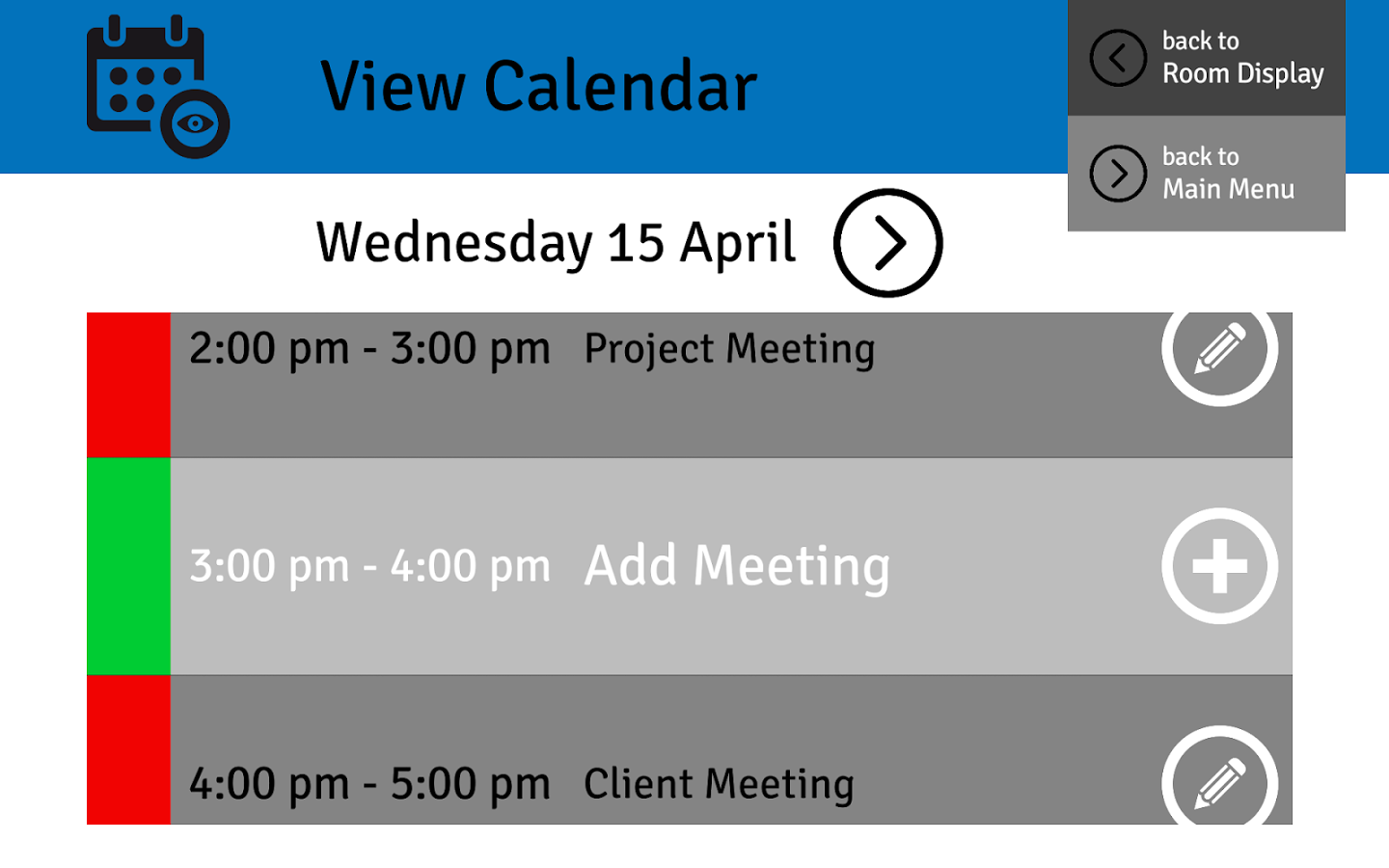 Meeting Room Display 4 Android Apps on Google Play