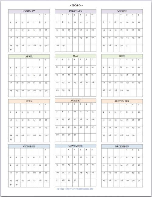 Calendar Templates Year At A Glance : School calendar at a glance template
