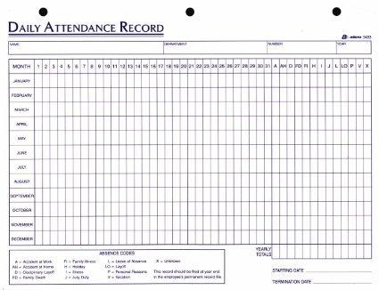 Employee Attendance Sheet Excel 2018 | Tracker, System Calendar