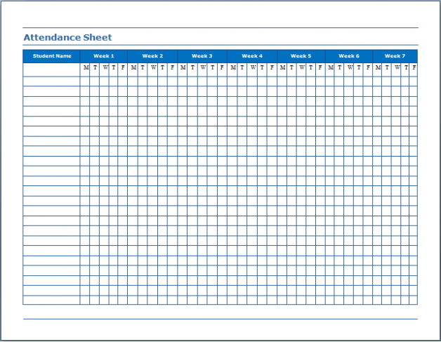 Printable Employee Attendance Sheet Excel 2018