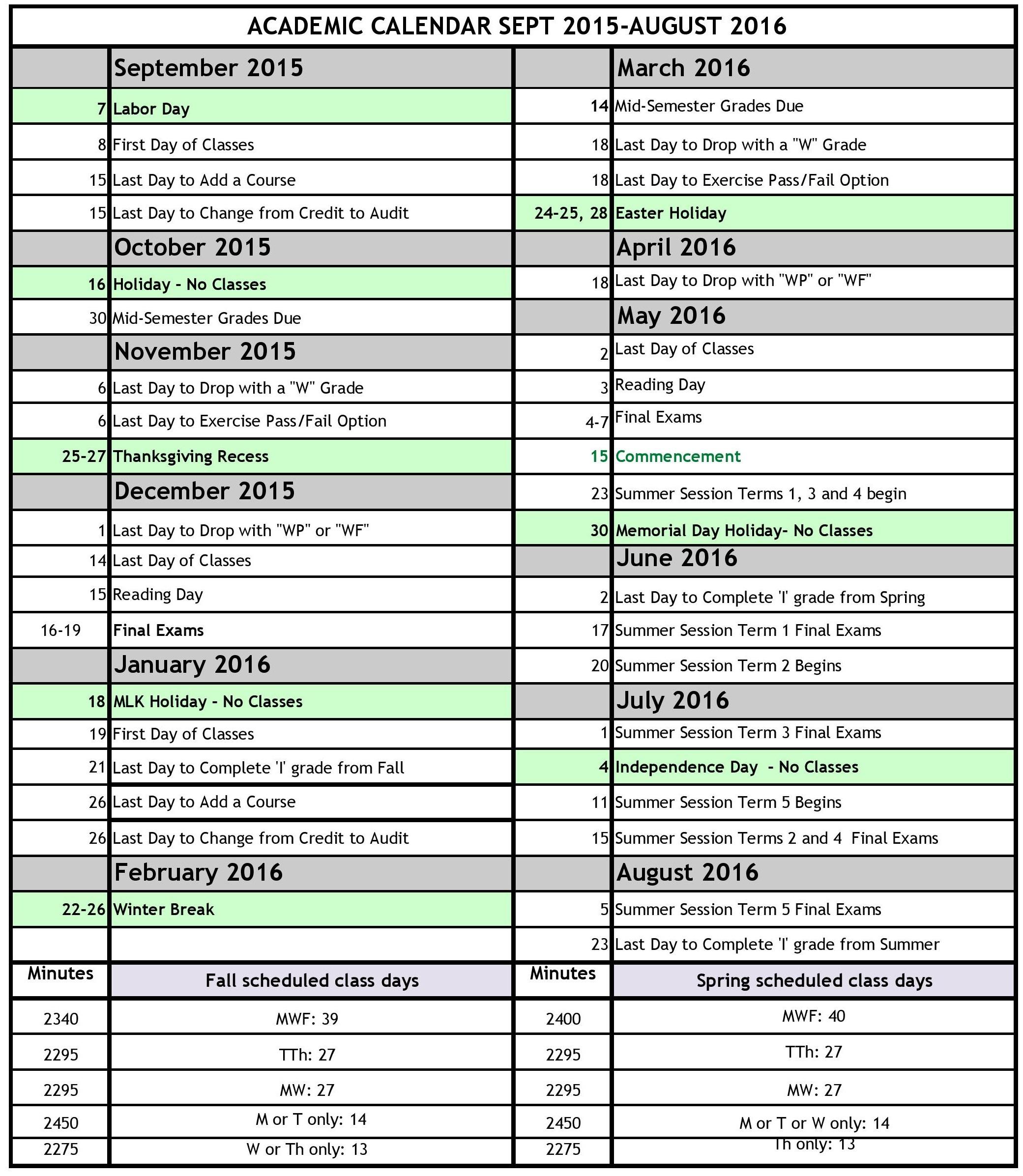 Board Of Education Holiday Calendar Nyc 2016 | Blank Calendar